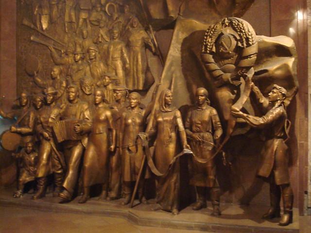 Bronze relief sculpture history museum bishkek flickr