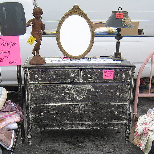 Vintage Distressed Dresser...I think I have the two bottom drawers switched...good one Mike!