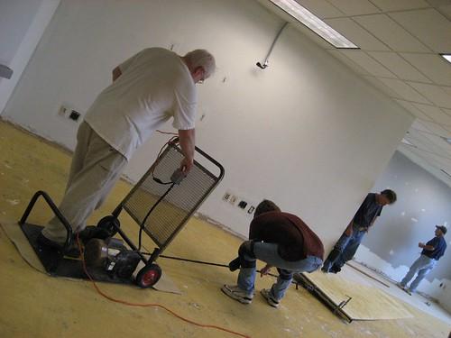 High tech carpet ripping up