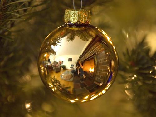 Pictures christmas ornament reflection self portrait