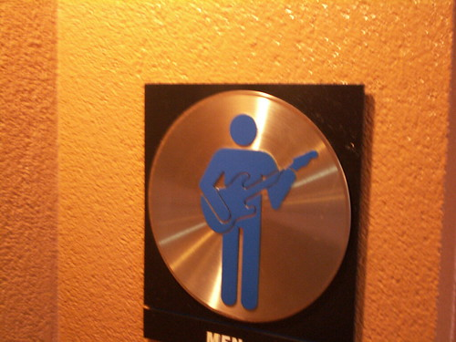 G-Force records restroom - Mens Room Sign