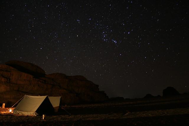 Stary Night in Jordanian Desert