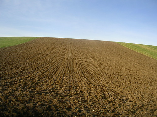 ploughed slope