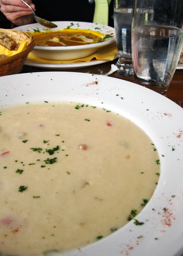 A big bowl of seafood chowder before tackling the Cliffs of Moher.