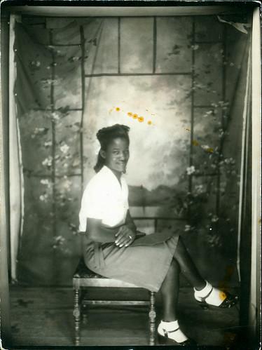 Woman at photo studio