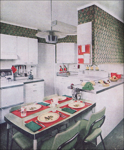 1955 Modern Green Kitchen Flickr Photo Sharing