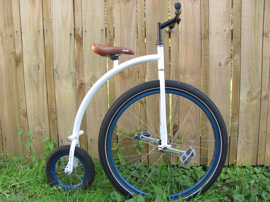 Mini penny farthing side view