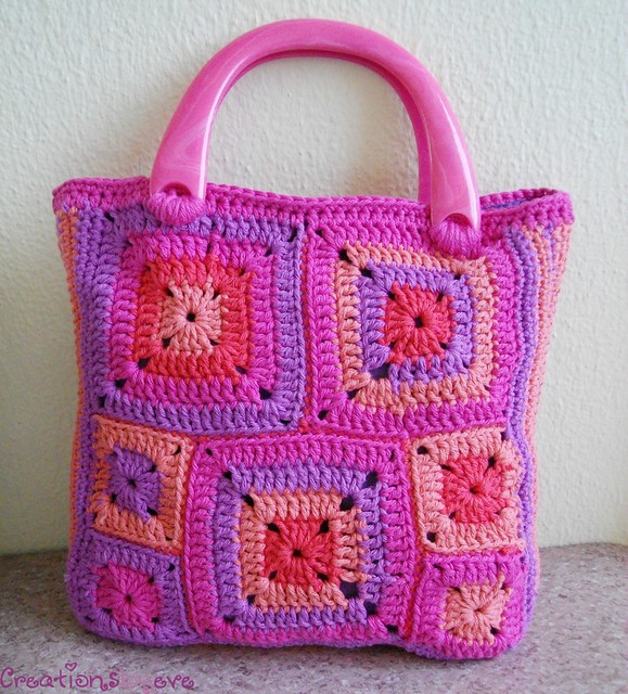 Crochet Bag Granny Square : modern granny squares crochet bag (6) Flickr - Photo Sharing!