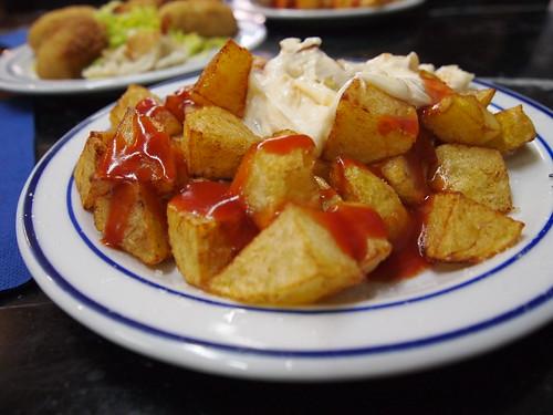 Patatas bravas. Valencia. Spain