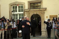 Συνάντηση με τον Πρωθυπουργό του Λουξεμβούργου και επικεφαλής του Eurogroup, Jean-Claude Juncker