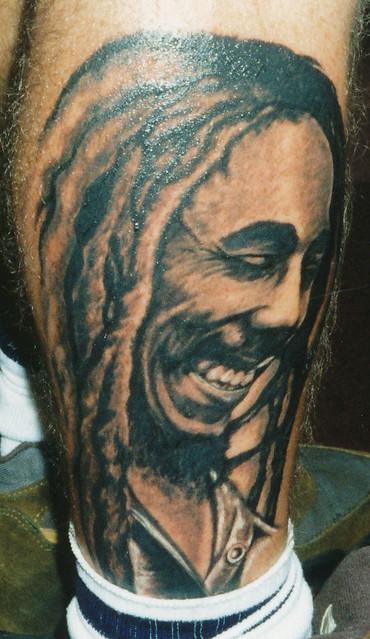 Bob marley calf tattoo seattle tattoo convention for Bob marley tattoo