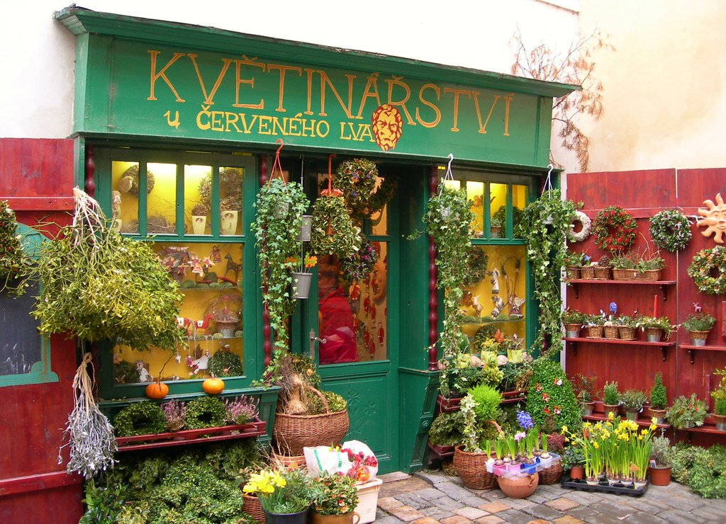 Prague flower shop