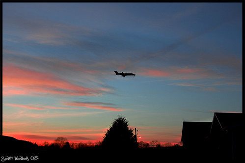 county new pink blue sunset red orange green plane nc newbie wilkes d40