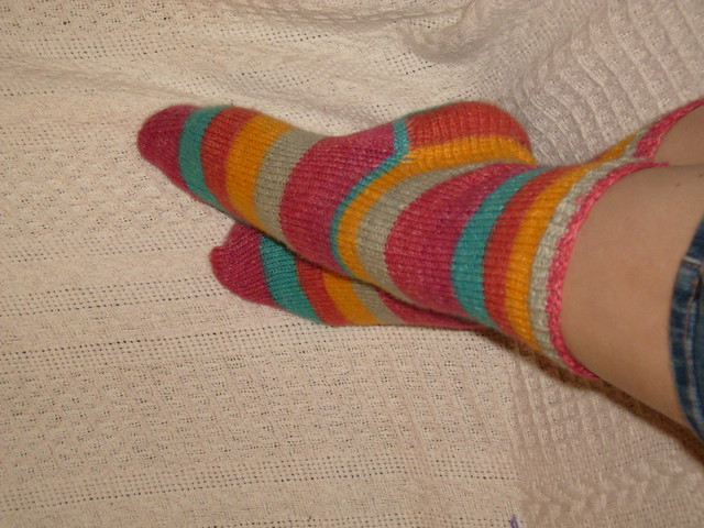 Finished basic socks