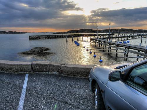 bridge sunset sun water car tarmac marina bay harbour gothenburg panasonic asphalt hdr superzoom hovås billdal fz18 dmcfz18 panasonicfz18