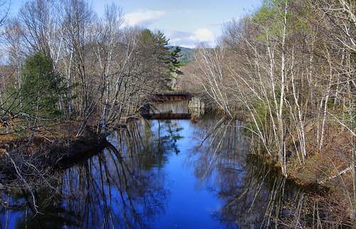 desktop wallpaper sky peru water stream background maine creativecommons railroadbridge spearsstream