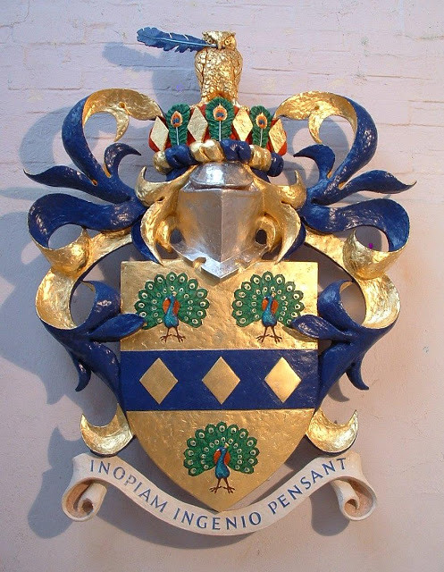 Coat of arms, fibreglass.