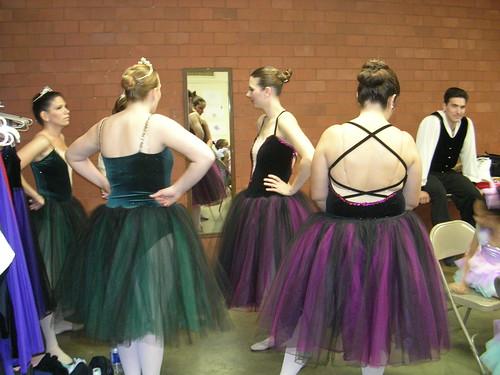 backstage at a ballet recital