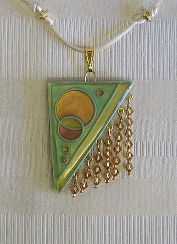 Art Deco Cloisonne Pendant Close up