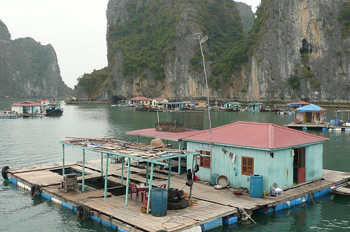 Floating house in Ha Long Bay