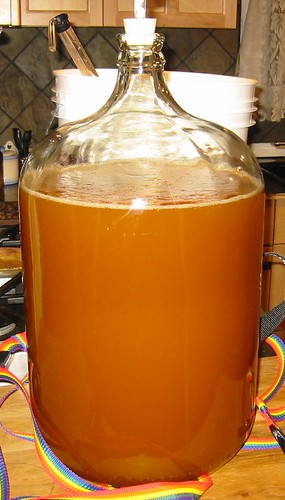 Wheat ale after it's been racked