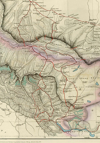 1873 map showing passes between China and India, northwest… | Flickr