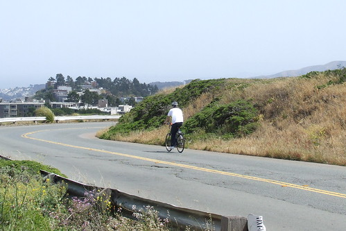 Bicyclist on Twin Peaks