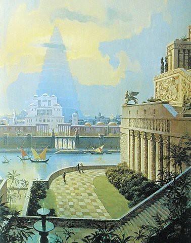 The Hanging Gardens Of Babylon Mesopotamia Iraq Pinterest Hanging Gardens Gardens And