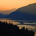 sunset in the columbia river gorge by drburtoni