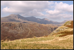 Sca Fell Pike and Great Gable from Mediobogdum