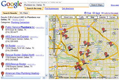 Chicago Plumbers in Google Maps | Example listings for an ar ...