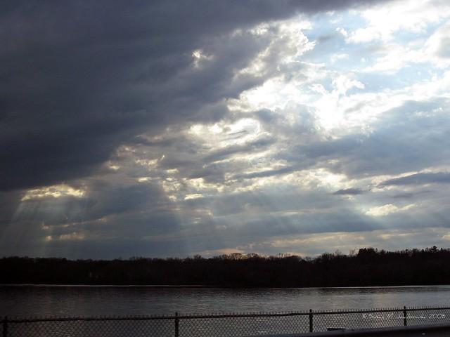 Sky over the reservoir