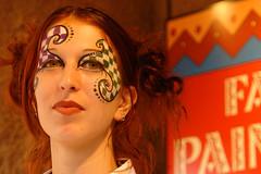 face paint girl