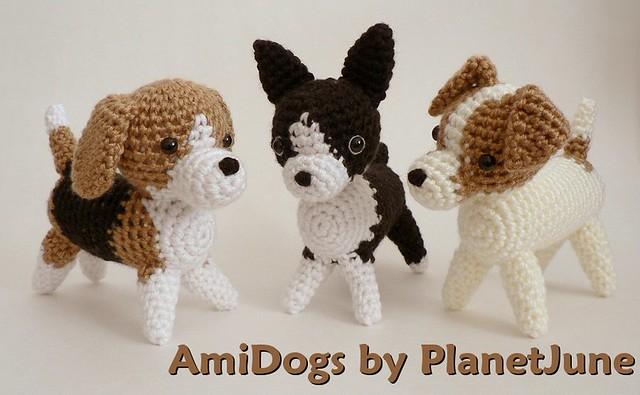 Fox Terrier Amigurumi Patron : Beagle, Boston Terrier, Jack Russell Terrier (crochet ...