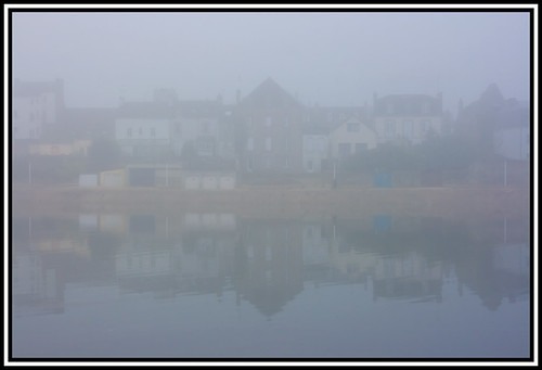 sea france misty fog reflections frankreich brittany meer nebel bretagne schleier spiegelungen pontlabbe