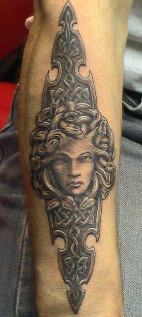 tattoo medusa by Mirek vel Stotker
