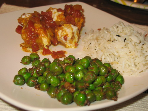 Fish, Peas & Rice (all with cumin)