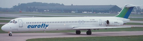 Eurofly MD-83 at Manchester Airport