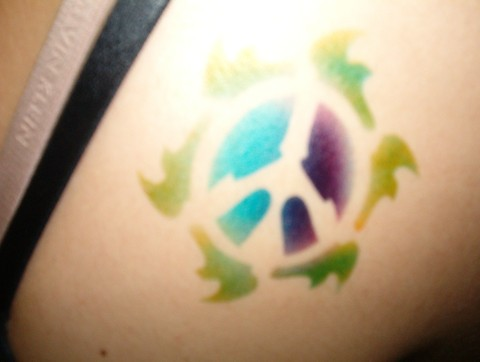 Peace Tattoos on Flaming Peace Sign Airbrush Tattoo   Flickr   Photo Sharing