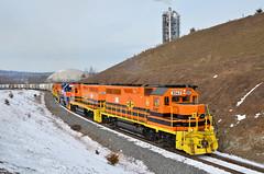 CORP GP38-3-2063, 2064  MMID GP38-3-2060 CORP GP38-3-2065, 2066 switching at Union Bridge, MD