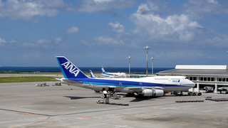ANA B747 at Naha International Airport, Okinawa Japan