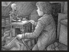 Hugo Cabret - Hugo and automaton