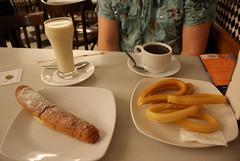 meal(1.0), lunch(1.0), breakfast(1.0), brunch(1.0), baking(1.0), restaurant(1.0), food(1.0), dish(1.0), dessert(1.0), cuisine(1.0), snack food(1.0), churro(1.0),