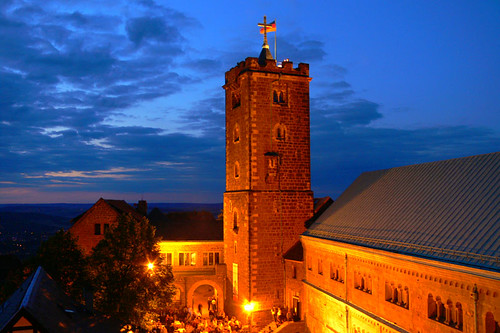 Wartburg at night, Eisenach, Germany