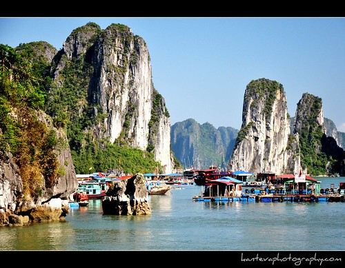 Floating Market  (Unesco World Heritage Site, Halong Bay, Vietnam)