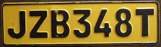 SOUTH AFRICA, TRANSVAAL Late 1970's series passenger plate