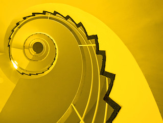 Spiral Stairs in Yellow