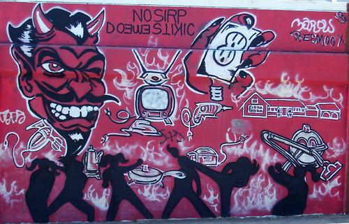Devil full mural