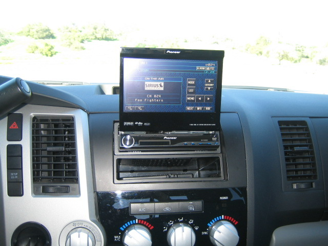 Aftermarket radio touch screen