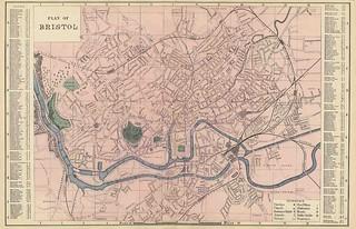 Bacon's Plan of Bristol 1883